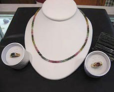 tourmaline jewelry set nc north carolina